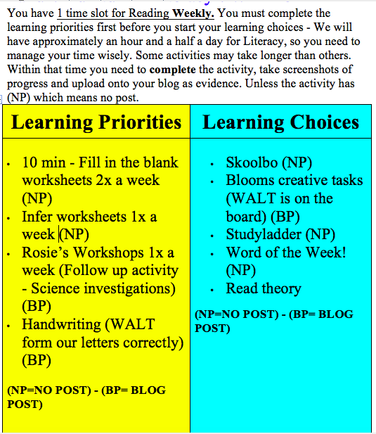Poutokomanawa We made some changes to our Learning Priorities and – Read Theory Worksheets